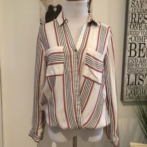 River Island Faux Wrap One-button Blouse